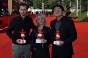 28/10/07 Festa del cinema di Roma nelle foto i premiati: premio Alice Joseph Greco, Kwang Su Park, Pina Varriale