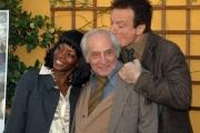 20/11/07 presentazione del film documentario CIVICO ZERO nelle foto: Letizia Sedrick,  Francesco Maselli, Massimo Ranieri