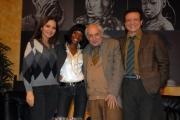 20/11/07 presentazione del film documentario CIVICO ZERO nelle foto: Ornella Muti, Letizia Sedrick,  Francesco Maselli, Massimo Ranieri