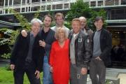 23/11/07Presentazione della fiction DONNA DETECTIVE nella foto  la regista TH Torrini con i protagonisti maschili
