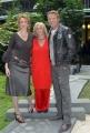 23/11/07Presentazione della fiction DONNA DETECTIVE nella foto Lucrezia Lante Della Rovere Kaspar Capparoni con la regista TH Torrini