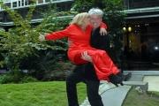 23/11/07Presentazione della fiction DONNA DETECTIVE nella foto la regista Cinzia TH Torrini con il marito Ralph Phalka