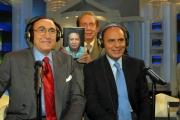 27/11/07 puntata di Porta a Porta sui quiz, nelle foto Mike Bongiorno Baudo e Vespa