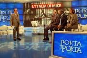 27/11/07 puntata di Porta a Porta sui quiz, nelle foto Mike Bongiorno Baudo e Vespa signora Longari