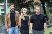 11/01/08 Presentazione della fiction di canale 5 L' ULTIMO PADRINO, nella foto: Michele Placido, Daniele Pecci e Micaela Ramazzotti