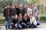 21/01/08 presentazione del film SCUSA MA TI CHIAMO AMORE a Roma nel liceo Giulio Cesare, nella foto: il cast degli studenti