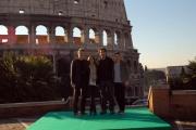 Gioia Botteghi/OMEGA 6/02/08 Roma presentazione del film -Jumper- nella foto: Jamie Bell  Doug Liman  Hayden Christensen, Rachel Bilson,