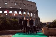 carlo mattoni/markanews 6/02/08 roma presentazione del film -jumper- nella foto:  Jamie Bell Doug Liman  Hayden Christensen, Rachel Bilson,