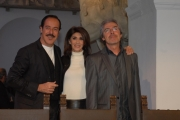 Gioia Botteghi/OMEGA 5/03/08 presentazione del programma di rai uno NON ESISTE PIU LA MEZZA STAGIONE con il trio Lopez Marchesini Solenghi