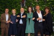 mattoni/markanews 4/06/08 roma, incontro stampa per la fine delle riprese del film _ il papà di giovanna_ nella foto: ezio greggio, rohrwacher, orlando, grandi, avati, neri,