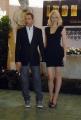 mattoni/markanews 23/04/08  roma presentazione del film _iron man_ nella foto: gwyneth paltrow e robert downey jr