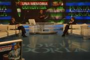 mattoni/markanews 30/04/08 roma trasmissione porta a porta , nella foto il nuovo sindaco di roma gianni alemanno e piero fassino