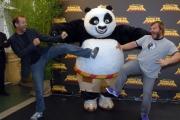 mattoni/markanews 25/06/08 roma presentazione del film _ kung fu panda_ nella foto  jack black fabio volo