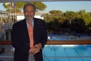 mattoni/markanews 15/07/08 roma sede rai tor di quinto conferenza stamps di presentazione della programmazione per le olimpiadi nella foto : antonio caprarica