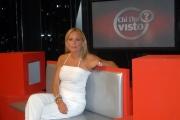 mattoni/markanews 5/09/08 roma studi rai presentazione della nuova serie del programma _chi l'ha visto_ con la conduttrice federica sciarelli e la nuova scenografia