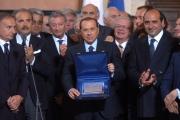 mattoni/markanews roma 5-9-08: il presidente del consiglio silvio berlusconi riceve a villa madama gli olimpionici di ritorno da pechino