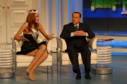 Gioia Botteghi/markanews 15/09/09 porta a porta con berlusconi e miss italia miriam leoni