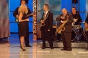 gioia botteghi/markanews 20/09/08 roma seconda puntata della trasmissione _tutti pazzi per la tele_ presentato da antonella clerici e carlo pistarino, nella foto con maurizio costanzo
