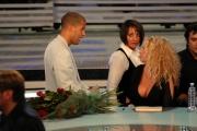 Botteghi/ItalyPhotoPress  27/09/08 registrazione della terza puntata di Tutti pazzi per la tele, nella foto Antonella Clerici e il suo compagno Eddy Martens la rimprovera durante le pause di prolungarsi troppo con gli ospiti
