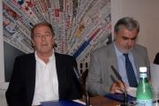 mattoni/markanews 1/10/08 roma conferenza stampa di presentazione de _la bibbia giorno e notte_ nella foto l il vicesindaco cutrufo e giovanni minoli