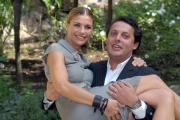IPP/Botteghi 10/10/08 presentazione della Fiction _ VIP_ in onda su canale 5 il 14 ottobre nella foto Martina Colombari con Enrico Brignano