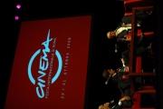 mattoni/markanews 12/06/08 roma conferenza stampa della festa del cinema di roma e presentazione del nuovo direttore artistico gian luigi rondi, nella foto con il sindaco alemanno