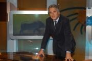 IPP/Botteghi 16/10/08 presentazione della nuova scenografia del tg3 nella foto: Maurizio Mannoni