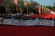 all human rights for all , i registi italiani che aderiscono all'iniziativa, roma 25/10/08, festa del cinema di roma, photo : mattoni/markanews