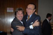 IPP/Botteghi 13/11/08 conferenza stampa di presentazione della nuova serie tv _Serata D Onore_ presentata da Pippo Baudo nella foto con Fabrizio Del Noce