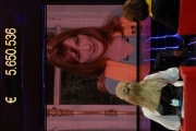 IPP/Botteghi 12/12/08 Roma trasmissione tv per telethon ospite  Milly Carlucci  in collegamento con Carla Bruni