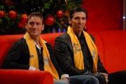 IPP/Botteghi 12/12/08 Roma trasmissione tv Affari tuoi  con Max Giusti, per telethon ospite Francesco Totti Gianluigi Buffon