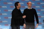 IPP/Botteghi presentazione del film YES MAN, nella foto: Jim Carrey ed il regista Peyton Reed