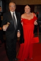 mattoni/markanews 18/04/08 roma passerella per i premi david di donatello, nella foto tony renis e moglie