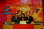 Mattoni Nuova stagione della trasmissione di raitre Elisir nelle foto Michele Mirabella, Patrizia Schisa e il Dott. Carlo Gargiulo