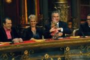IPP/Botteghi 17/1/09 seconda puntata di BALLANDO CON LE STELLE, nella foto: Sposini nella giuria con il cane