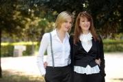 Foto IPP/Gioia Botteghi  Roma 24/04/2009  presentazione del film VALERIE; DIARIO DI UNA NINFOMANE, nella foto la protagonista Belen Fabra e l'autrice del libro dal quale è tratto il film, Valerie Tasso