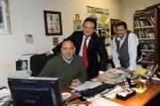Foto IPP/Gioia Botteghi Roma 14/10/09  nuovo direttore del tg2 , Mario Orfeo in redazione con i collaboratori