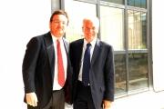 Foto IPP/Gioia Botteghi Roma 14/10/09  nuovo direttore del tg2 , Mario Orfeo, con il vecchio direttore , ora direttore di raidue Mazza