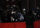 Foto IPP/Gioia Botteghi  Roma 15/10/2009  Festa del cinema di Roma, red carpet per il film TRIAGE, nella foto: Paolini e la sua incursione