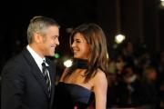 Foto IPP/Gioia Botteghi Roma 17/10/2009  Festa del cinema di Roma film  Up in the air____nella foto: Giorge Clooney con Canalis