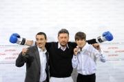 Foto IPP/Gioia Botteghi Roma 18/10/2009  Festa del cinema di Roma film  Alza la testa, nella foto: Gabriele Campanelli, Sergio Castellitto, Alessandro Angelini
