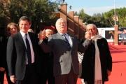Foto IPP/Gioia Botteghi Roma 19/10/2009  Festa del cinema di Roma film  Popieluszko, red carpet con: Il sindaco Alemanno e Lech Walesa e Rondi