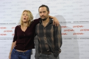 /Gioia Botteghi Roma 19/10/2009  Festa del cinema di Roma film  Les Regrets, nella foto Valeria Bruni Tedeschi con il regista Cedric Kham