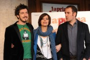 Foto IPP/Gioia Botteghi  Roma 12/01/10 Conferenza stampa di presentazione del film LA PRIMA COSA BELLA, nella foto Claudia Pandolfi, Fabrizio Sacchii e Valerio Mastandrea