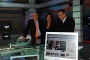 Foto IPP/Gioia Botteghi  Roma 13/01/2010Presentazione del nuovo tg5web, nella foto Il direttore del tg5  Cristina Parodi, Massimo Donelli , Ives Confalonieri,