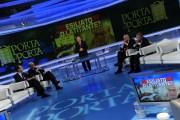 Foto IPP/Gioia Botteghi  Roma 18/01/2010Porta a Porta puntata su Craxi, da Vespa. nella foto : Bobo Craxi e Fabrizio Cicchitto, Nicola Latorre e Massimo Donati
