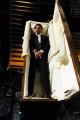 Foto IPP/Gioia Botteghi  Roma 29/01/2010 seconda puntata di Sciock la trasmissione de LA7 presentata da Luca Barbareschi, nella foto COSTANTINO VITAGLIANO intervistata nella bara