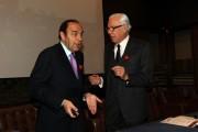 Foto IPP/Gioia Botteghi  Roma 4/02/2010 presentazione in rai PER IL TUO CUORE, nella foto  Bruno Vespa,  e il presidente dell'associazione per il tuo cuore Attilio Masera