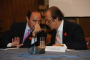 Foto IPP/Gioia Botteghi  Roma 4/02/2010 presentazione in rai PER IL TUO CUORE, nella foto Direttore Generale della Rai Mauro Masi con Bruno Vespa