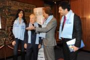 Foto/IPP/Gioia Botteghi Roma 14/12/2010 conferenza stampa di presentazione del Telethon in rai, nella foto Montezemolo e Garimberti presidente rai, Frizzi e Cucinotta